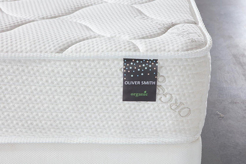"Oliver Smith® Organic Cotton 10"" Firm Comfort Sleep Spring & Foam Hybrid Mattress - HomeLife Company"