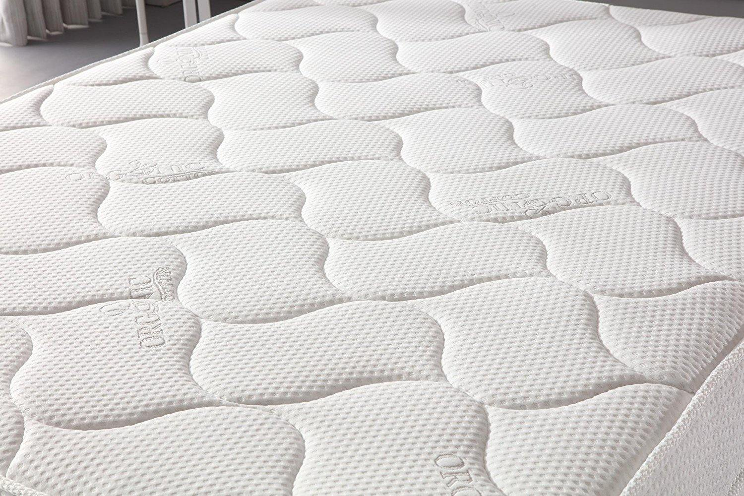 "Oliver Smith® Organic Cotton 10"" Firm Comfort Sleep Spring & Foam Hybrid Mattress"