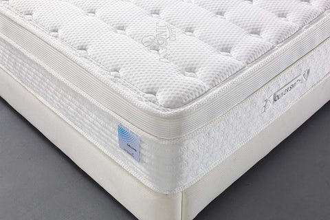 "Oliver Smith® Organic Cotton 12"" Deluxe Sleep Plush w/ Cool Memory Foam & Pocket Spring Mattress"