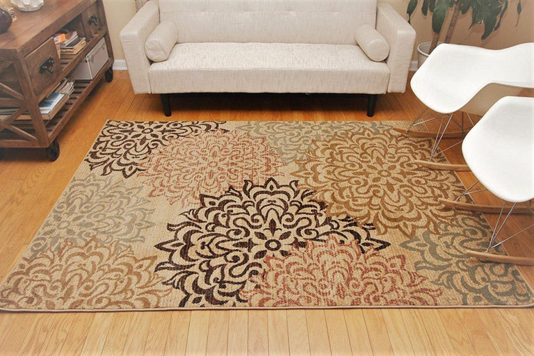 translation missing: en.Feraghan® Beige Modern Flowers Rug - HomeLife Company