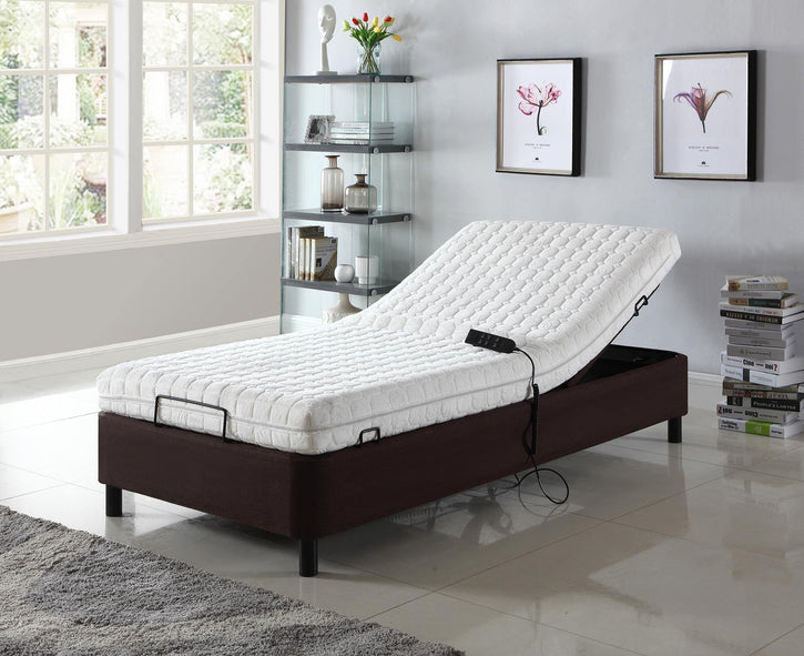 Paterson by HomeLife® Dark Brown Electric Adjustable Platform Bed Frame - HomeLife Company