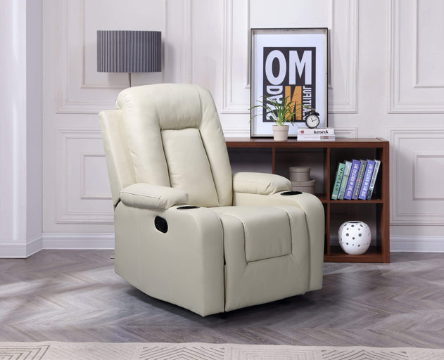 translation missing: en.HomeLife®Beige Premiere Classics Ultra Relaxation Recliner Chair with Cup Holders - HomeLife Company