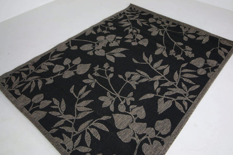 Jute Collection® Black Branches Design Jute Area Rug