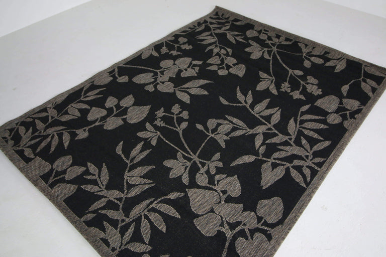translation missing: en.Jute Collection® Black Branches Design Jute Area Rug - HomeLife Company