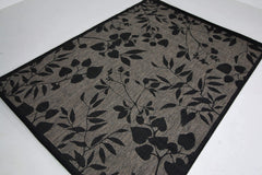 Jute Collection® Grey Branches Design Jute Area Rug
