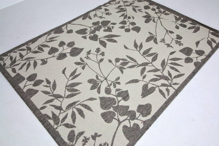 Jute Collection® Ivory Branches Design Jute Area Rug - HomeLife Company