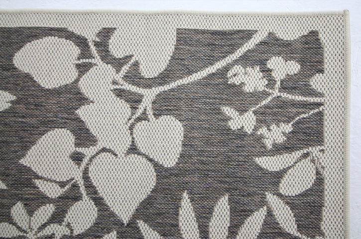 Jute Collection® Neutral Branches Design Jute Area Rug - HomeLife Company
