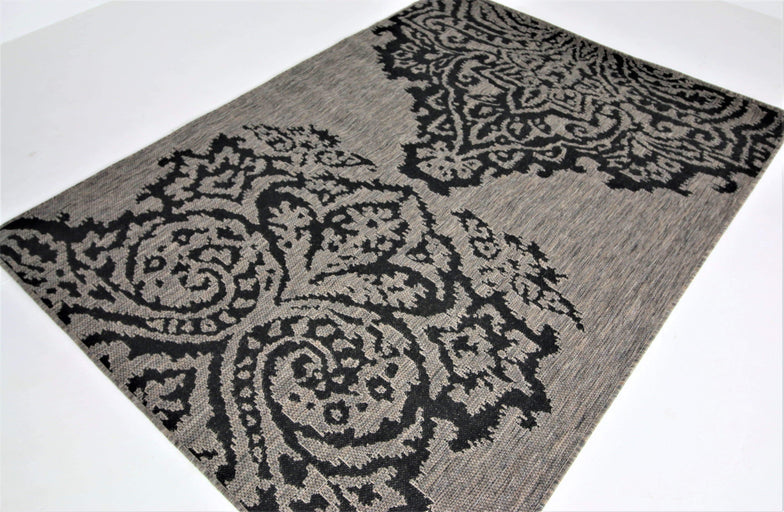 translation missing: en.Jute Collection® Grey Damask Design Jute Area Rug - HomeLife Company