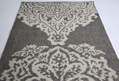 Jute Collection® Neutral Damask Design Jute Area Rug