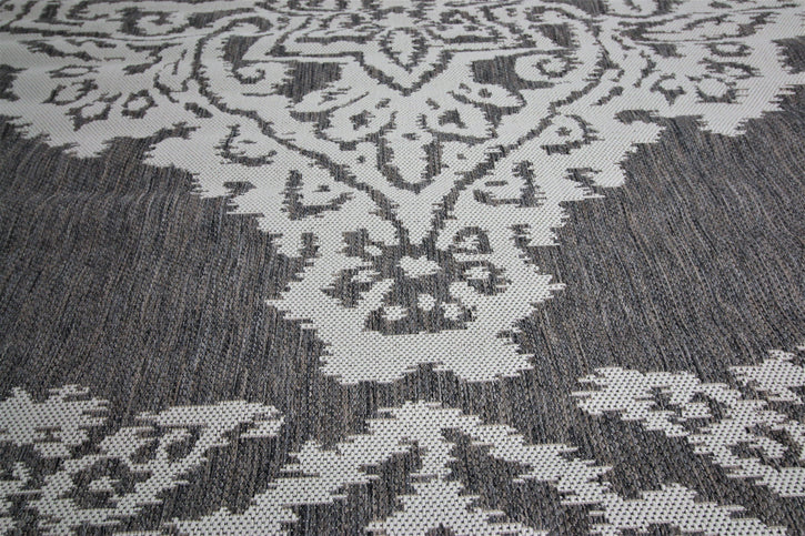 Jute Collection® Neutral Damask Design Jute Area Rug - HomeLife Company