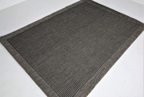 Jute Collection® Black Plain Design Jute Area Rug