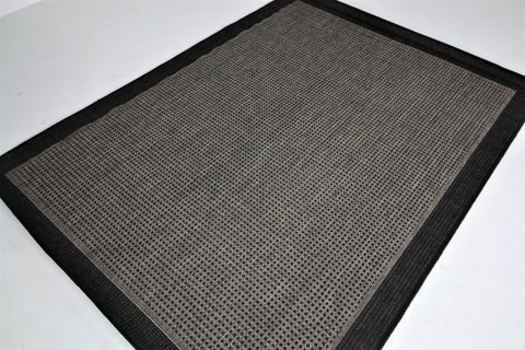 Jute Collection® Grey Plain Design Jute Area Rug