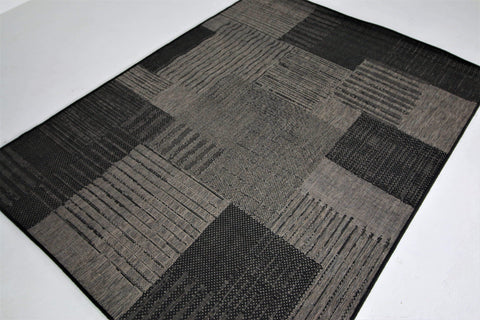 Jute Collection® Black Modern Design Jute Area Rug