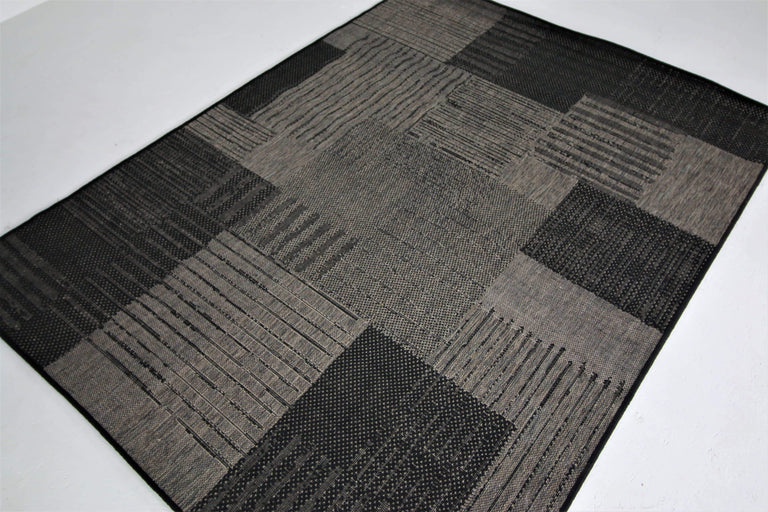 translation missing: en.Jute Collection® Black Modern Design Jute Area Rug - HomeLife Company