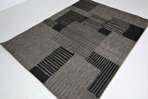 Jute Collection® Grey Modern Design Jute Area Rug