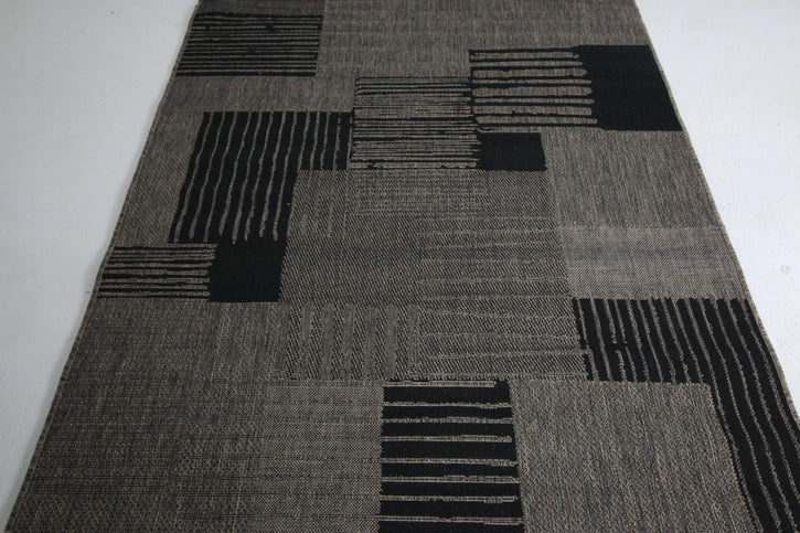 Jute Collection® Grey Modern Design Jute Area Rug - HomeLife Company