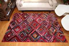 Radiance Art Collection Modern Art Squares Area Rug