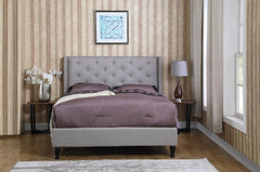 Astor by HomeLife® Grey Linen Platform Bed Frame