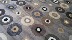 Silk Music Grey & Navy Vinyl Records Area Rug