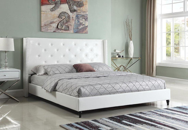 "Astor by HomeLife® 51"" High Headboard Leather Platform Bed"