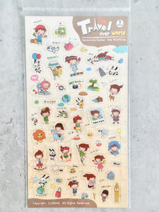 Travel Over World Sticker Sheet