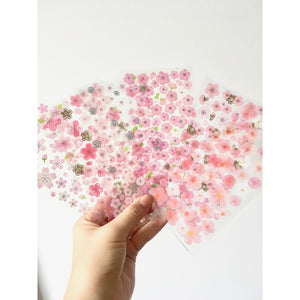 Blossoming Sakura Stickers - 6 sheets