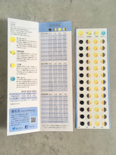 Moon Phases Sticker Sheet with Moon Phase Guide