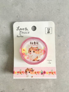 Hua Hua Flower Cat Washi Tape