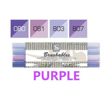 Kuretake ZIG Brushables Markers Set - 4pcs purple