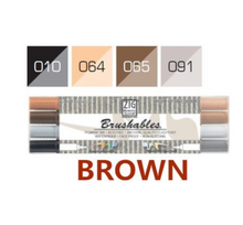 Kuretake ZIG Brushables Markers Set - 4pcs brown