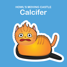 Ghibli Cats Stickers Calcifer