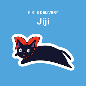 Ghibli Cats Stickers Jiji