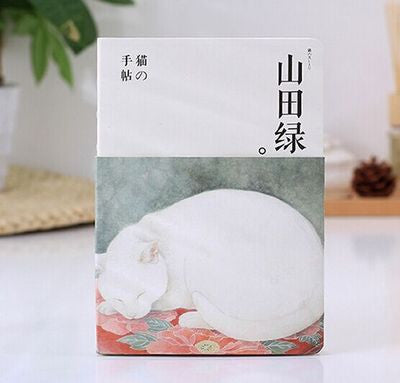Watercolor Style White Cat Sleeping Notebook