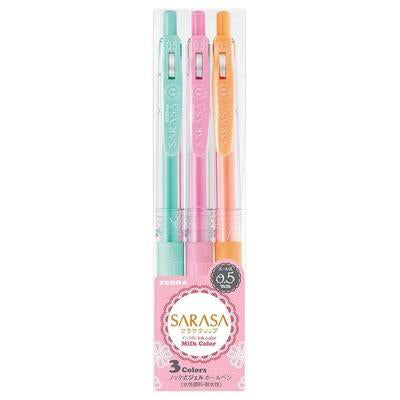 Zebra SARASA Milk color gel pen 3 pieces