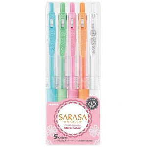 Zebra SARASA Milk color gel pen 5 pieces