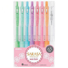Zebra SARASA Milk color gel pen 8 pieces
