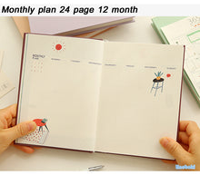 Undated Planner Notebook Month overview