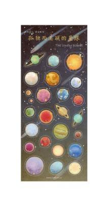 Space Planet Sticker sheet