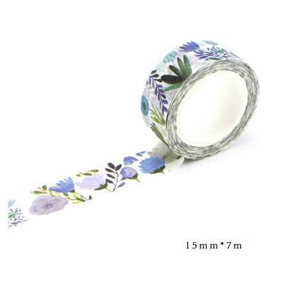 Floral Washi Tape blue flowers