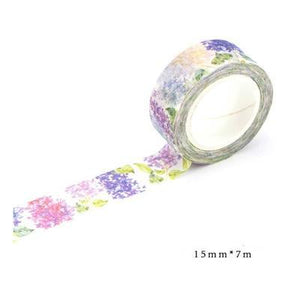 Floral Washi Tape pink and purple