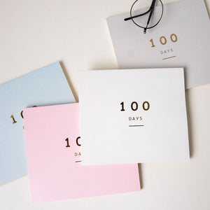 hundred days countdown notebook