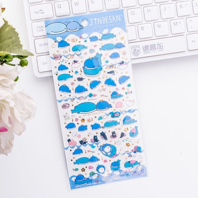 Cute Shark Whale Bullet Journal Decoration Stickers