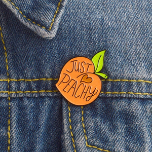 Just Peachy pin peach enamel lapel