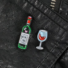 leather black jacket pin wine time bottle wine glass of red bordeaux
