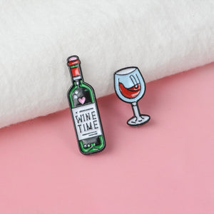 pink background with cloth red wine bottle wine time red swirl glass