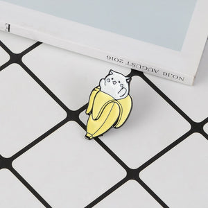 yellow white enamel pin jewelry brooche accessories