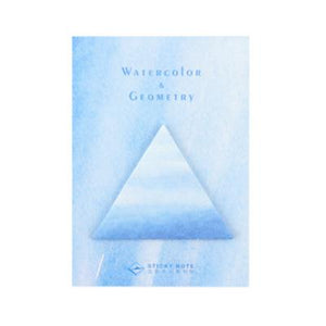 Blue Sticky note water color colour stationery