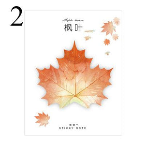 Season Leaves Sticky Note Maple Leaf