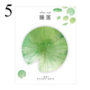 Season Leaves Sticky Note Lotus Leaf