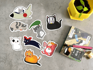 Ghibli Cats Stickers whole set